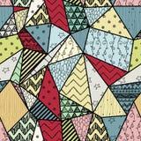 Geometryczny Pociągany ręcznie Abstrakcjonistyczny Bezszwowy tło royalty ilustracja