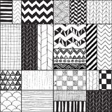 Geometryczny Pociągany ręcznie Abstrakcjonistyczny Bezszwowy tło ilustracji