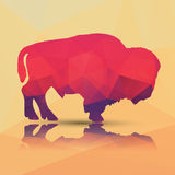 Geometryczny poligonalny bizon, deseniowy projekt Obraz Stock