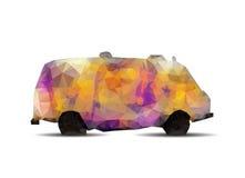 Geometryczny poligonalny graffiti samochód dostawczy. ilustracji