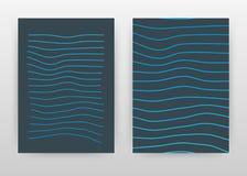 Geometryczny prosty błękitny prążkowany biznesowy projekt dla sprawozdania rocznego, broszurka, ulotka, plakat Błękitny uderzenie royalty ilustracja