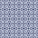Geometryczny Retro Tapetowy Bezszwowy Wzór Obrazy Royalty Free