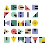 Geometryczny Retro Typeface Obraz Royalty Free
