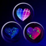 Geometryczny serce 3 ilustracji
