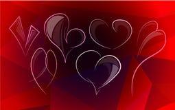 Geometryczny serce 5 royalty ilustracja
