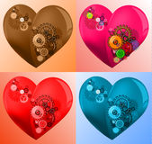 Geometryczny serce 14 ilustracja wektor