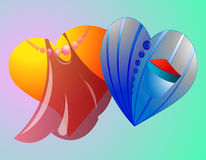 Geometryczny serce 11 ilustracji