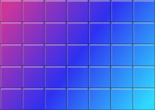 Geometryczny tło z Kolorowymi 3D płytkami ilustracji