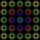 Geometryczny tło tęcz gwiazdy Zdjęcie Royalty Free