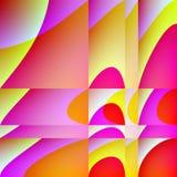Geometryczny tło trójboki i żółci punkty ilustracji
