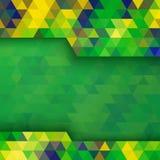 Geometryczny tło używać Brazylia flaga kolory Obraz Stock