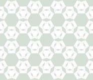 Geometryczny tło z heksagonalną siatką, cienka kratownica, siatka, kwieciste sylwetki, powtórek płytki ilustracji