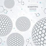 Geometryczny technologii pojęcia tło Obraz Stock