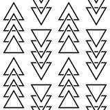 Geometryczny trójboka wektoru wzór, modnisia abstrakcjonistyczny bezszwowy projekt, nowożytny tło ilustracja wektor