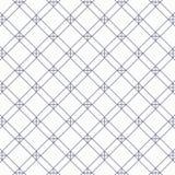 Geometryczny wektoru wzór, wielostrzałowy liniowy kwadrat i diamentowy kształt z krzyżem przy each kątem, ilustracja wektor