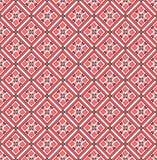 Geometryczny wzór czerwony rhombus Obraz Royalty Free