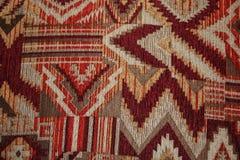 Geometryczny wzór na tkaniny tekstury czerwieni, Burgundy i białym colo, zdjęcia royalty free