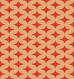 Geometryczny wzór okręgi Obrazy Royalty Free