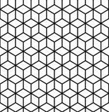 geometryczny wzór Sześcianu bezszwowy wzór geometryczna tło linia Obraz Stock