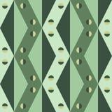 Geometryczny wzór trójboki, rhombus i kwadraty w cieniach zieleń, ilustracja wektor