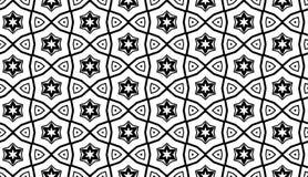 Geometryczny wzór z gwiazdami Obrazy Stock
