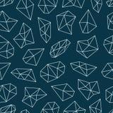 Geometryczny wzór z kryształami w wieloboka stylu Obraz Stock