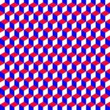 Geometryczny wzór z sześcianami które są kolorami Americ Obrazy Royalty Free