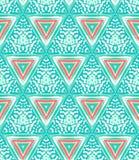Geometryczny wzór z trójbokami i przypadkowymi kropkami Zdjęcia Stock