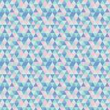 Geometryczny wzór z trójbokami umieszczającymi przypadkowo ilustracja wektor