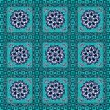 Geometryczny z kwiecistym wzorem Royalty Ilustracja