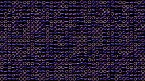 Geometryczny zapętlający wzór z płodozmiennymi holograficznymi pierścionkami dla abstrakcjonistycznego dyskoteki tła Zap?tlaj?ca  ilustracji