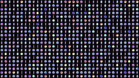 Geometryczny zap?tlaj?cy wz?r z p?odozmiennymi holograficznymi okr?gami dla abstrakcjonistycznego dyskoteki t?a Zap?tlaj?ca 4K ru ilustracji