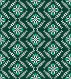 geometryczny zielony nowożytny wzór Obrazy Royalty Free