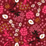 Geometryczny zwarty kwitnienie kwiat, liść w i ciemnym, kolorowym m, obraz royalty free