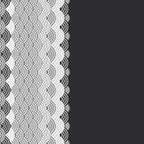 Geometrycznych abstrakcjonistycznych skal natury prosty tło z azjata fali okręgu wzoru czerni Popielatego bielu kolorów sztandaru ilustracji