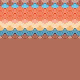 Geometrycznych abstrakcjonistycznych skal natury prosty tło z azjata fali okręgu wzoru pomarańcze menchii błękitnej czerwieni och royalty ilustracja