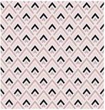 Geometrycznych menchii i czarnego diamentu kształtów wektoru wzoru bezszwowa płytka ilustracji
