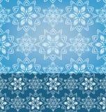 Geometrycznych płatków śniegu Bezszwowy deseniowy tło Obrazy Royalty Free