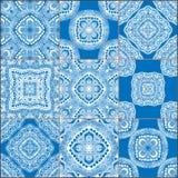 Geometrycznych płytek bezszwowi wzory ustawiający zdjęcie stock