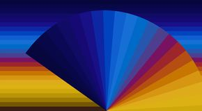 Abstract striped color geometry background stock illustration