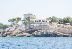 Geomorfologia costiera Mallorca Fotografie Stock