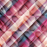 Geomrtic hearts pattern on plaid diagonal Stock Photography