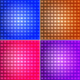 Geomteric square background set Stock Images