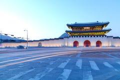 Geongbokgung宫殿汉城韩国 库存照片
