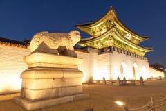Geongbokgung宫殿汉城韩国 库存图片