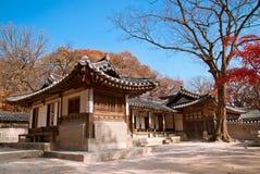 Geongbuk Palace in Seoul, South Korea. Geongbukgong also known as Gyeongbokgung Palace or Gyeongbok Palace, was the main royal palace of the Joseon dynasty stock photography