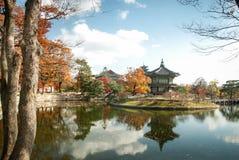 Geongbuk slott i Seoul, Sydkorea Arkivfoton