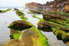 Geopark de Yehliu à Taïwan Photos stock