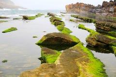Geopark de Yehliu à Taïwan Photographie stock libre de droits