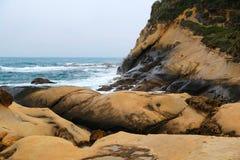 Geopark de Yehliu à Taïwan Images libres de droits